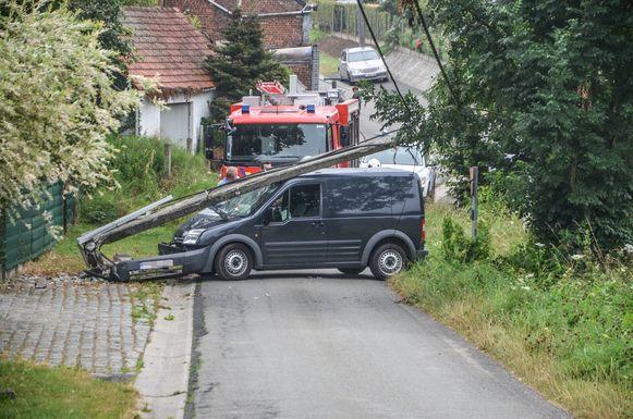 In de Kleistraat eindigde de 'testrit' van de bestuurder.