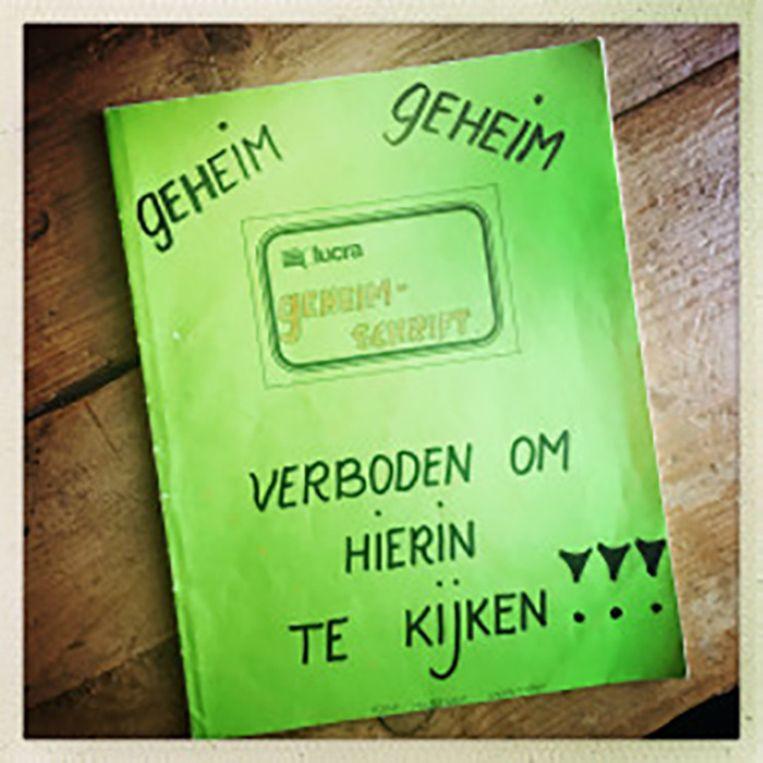 Het dagboek van Marieke, waarin ze vroeger over Joep schreef. Beeld Marieke van der Velden