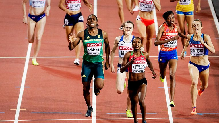 Wk atletiek in het Olympisch Stadion in Londen Beeld anp