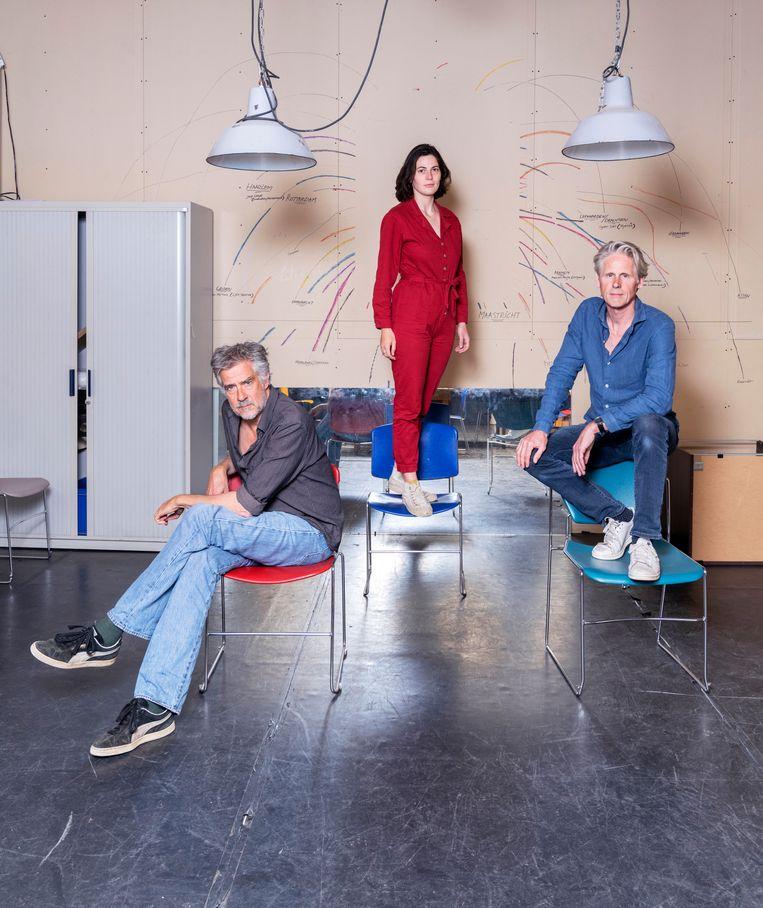 Vanaf links: Leopold Witte, Belle van Heerikhuizen en Geert Lageveen. Beeld Els Zweerink