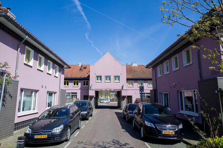 Roze huizen in Floradorp Beeld Rink Hof