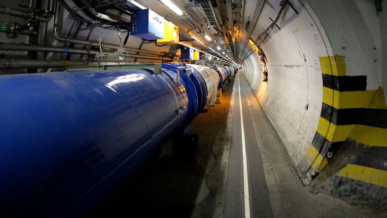 De ondergrondse tunnel van het CERN. Beeld AP