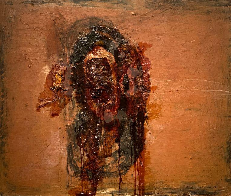 David Lynch; Rat Meat Bird; 1996; Verschillende materialen; 127 x 152,4 cm; Collectie van de kunstenaar Beeld David Lynch