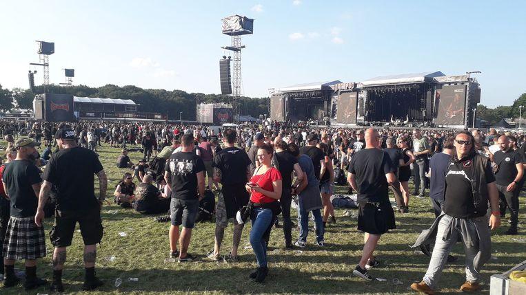De festivalweide van Graspop