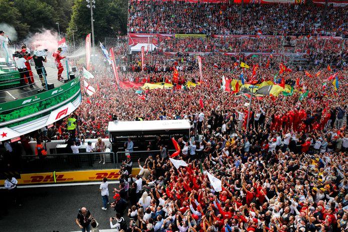 Het misschien wel beroemdste podium uit de Formule 1.