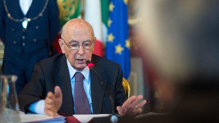 Giorgio Napolitano Beeld EPA