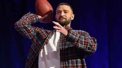 Pa speelt op Super Bowl, maar zoon Justin Timberlake mag later geen American Football spelen
