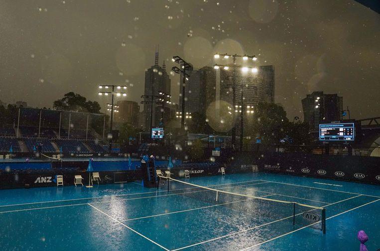 Melbourne Park in Melbourne, waar volgende week de Australian Open zal plaatsvinden.