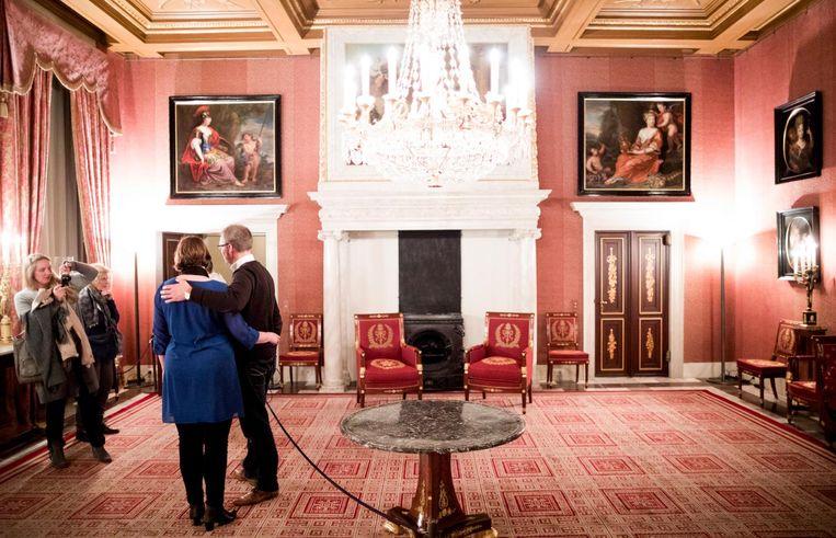 Foto's worden genomen in een vertrek in het paleis. Beeld Freek van den Bergh/de Volkskrant