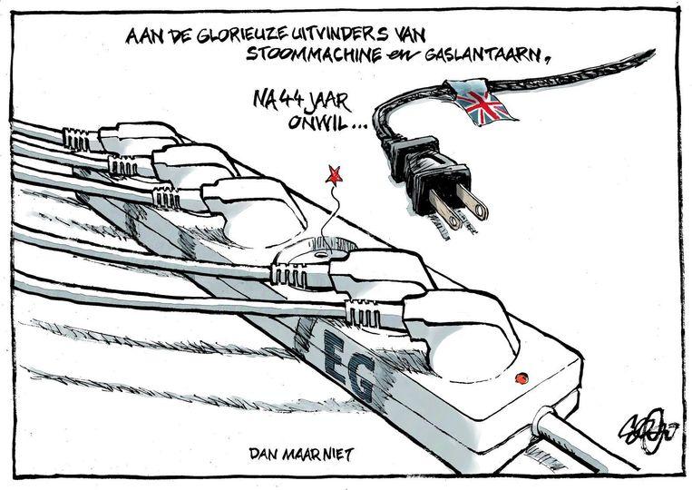 De cartoon van Collignon. Beeld Jos Collignon