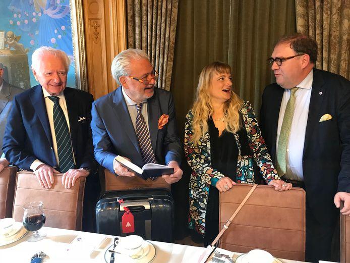Willy Michiels, Fernand Huts, Katharina Van Cauteren en Aalsters burgemeester Christoph D'Haese.