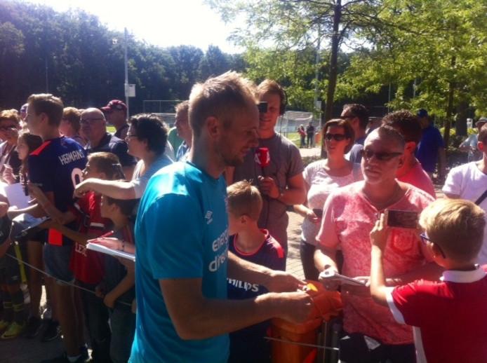 Warm onthaal voor Siem de Jong bij PSV