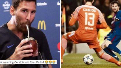 Real-fans op Twitter in de wolken met Courtois, bij Barcelona verkneukelen ze zich na flaters al aan afgang tegen Messi