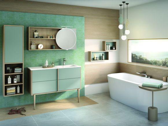 De badkamer is dé plek waar je tot rust komt en even tijd voor jezelf kan nemen. Een van de trends is back to nature waarbij cocooning centraal staat.