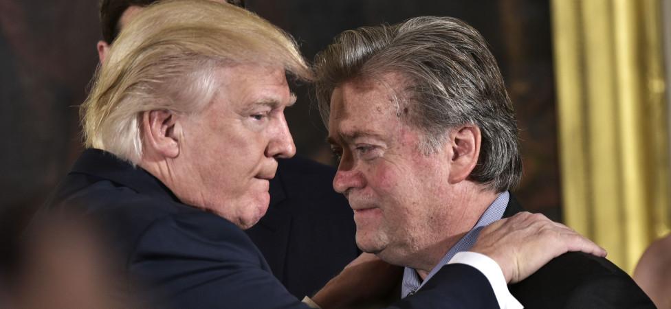 Trump en Bannon brengen een Republikeinse burgeroorlog dichtbij