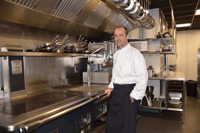 Chef-kok Kristof Coppens in zijn keuken (archieffoto).