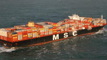 Berging van overboord geslagen containers in Waddengebied aangevat