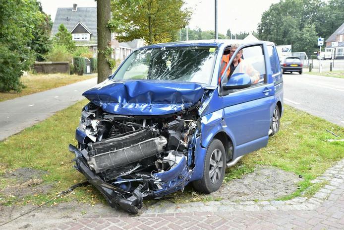 Gewonde bij ongeluk in Goirle.