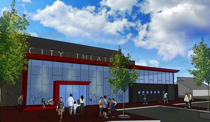 Impressiebeeld van nieuw City Theater in Schijndel.