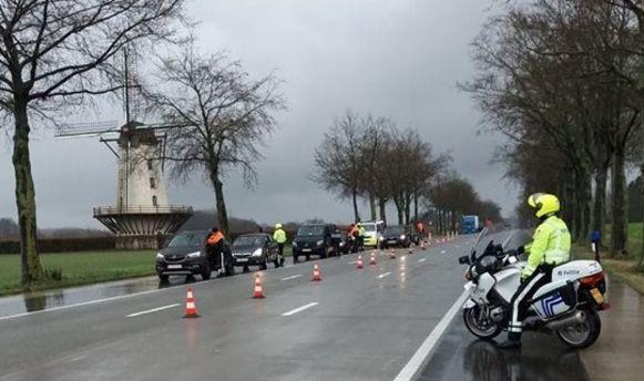 De politie hield in het verleden al gelijkaardige controles aan de Fauconniersmolen in Oordegem.