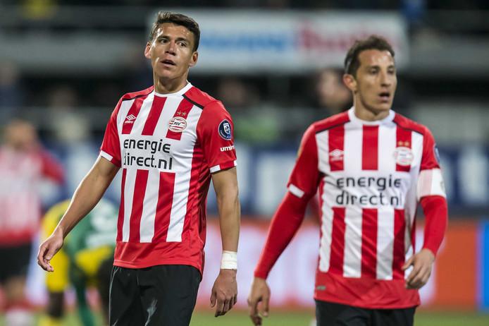 Héctor Moreno en Andrés Guardado vertrokken bij PSV.