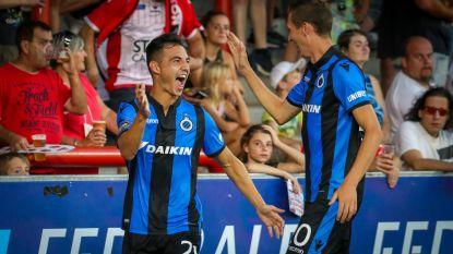 VIDEO. Wesley brengt Club Brugge met rode kaart in lastig parket, maar blauw-zwart wint wel dankzij Cools