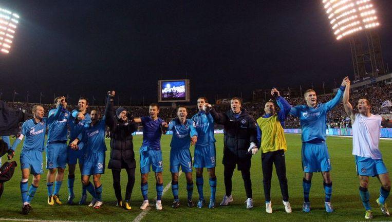 Spelers van Zenit Beeld afp