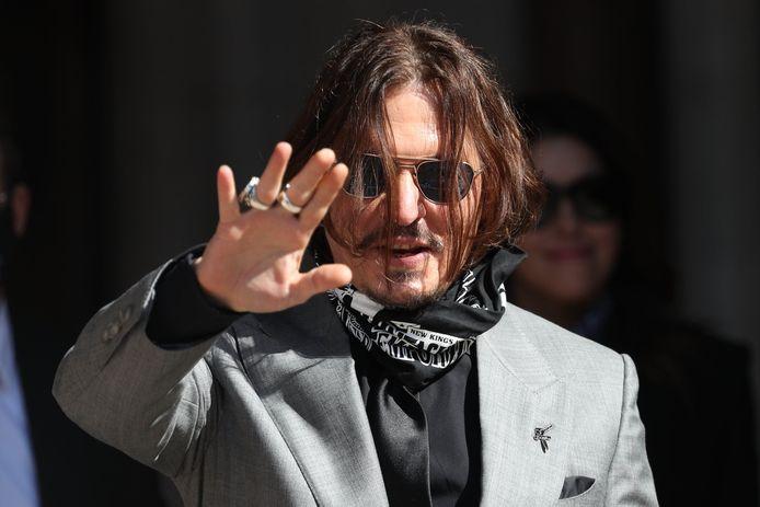 Johnny Depp en juillet 2020.