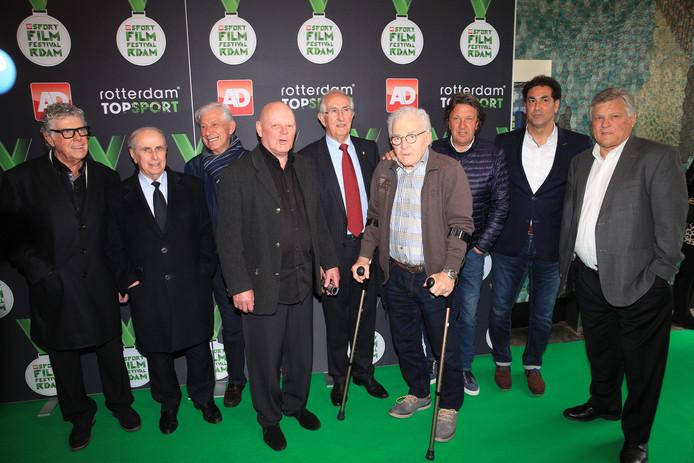 Reinier Kreijermaat (vierde van rechts) tijdens het AD Sportfilmfestival in 2016