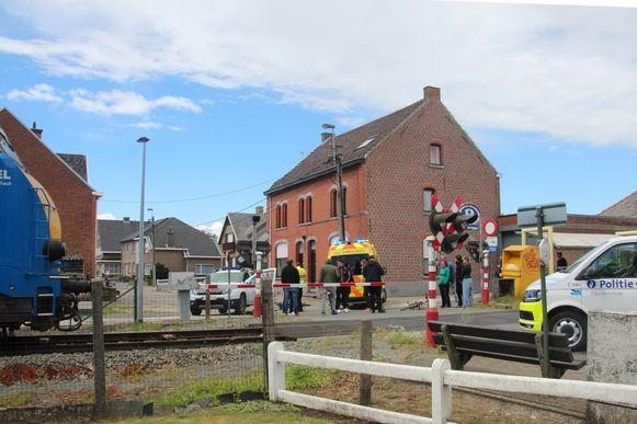 De opnames vonden plaats aan de treinhalte Bambrugge.