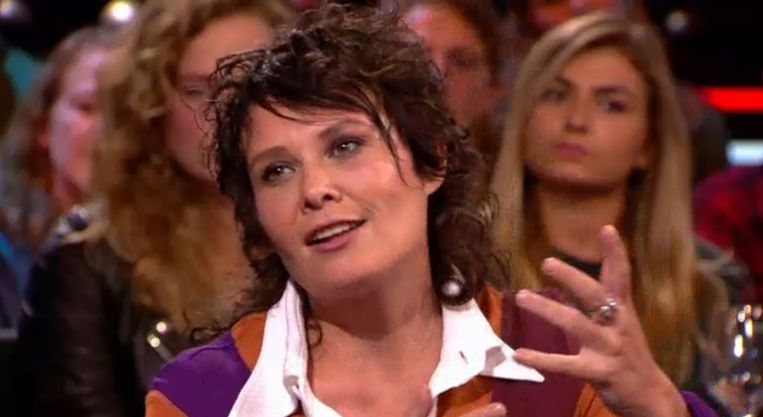 Griet Op de Beeck in 'De Wereld Draait Door'. Beeld RV