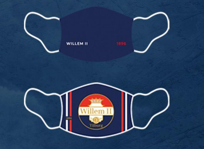 De mondmaskers van Willem II zijn te bestellen via de webshop van de club.
