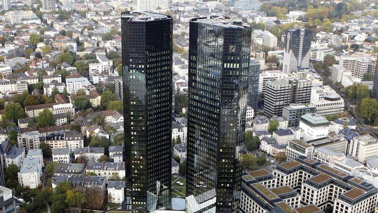 Hoofdkantoor van de Deutsche Bank in Frankfurt Beeld ap