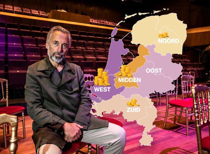 """Deventer theatermaker Peter Drost van Beumer & Drost krijgt geen subsidie meer. ,,We zullen veel kleinschaliger moeten werken."""""""