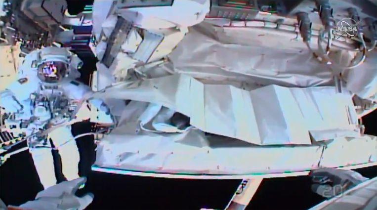 De ruimtewandeling stond in het kader van de reparatie van 'Alpha Magnectic Spectrometer' (AMS).