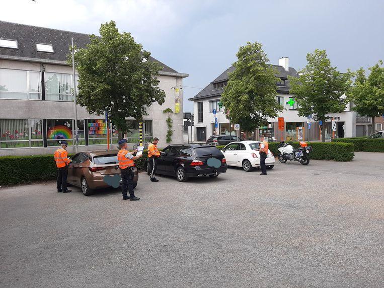 De politie van de zone Gavers voerde vrijdag nog een verkeerscontrole uit.