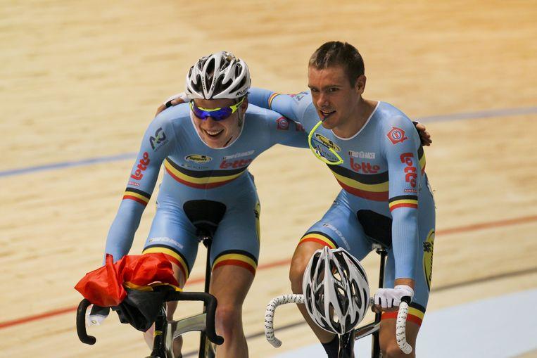 Kenny De Ketele - hier nog samen met Gijs Van Hoecke - toonde zich in Guadeloupe nu ook complementair met Otto Vergaerde.