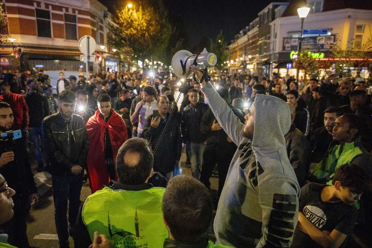 De demonstratie van anti-islambeweging Pegida op 5 oktober.  Beeld ANP