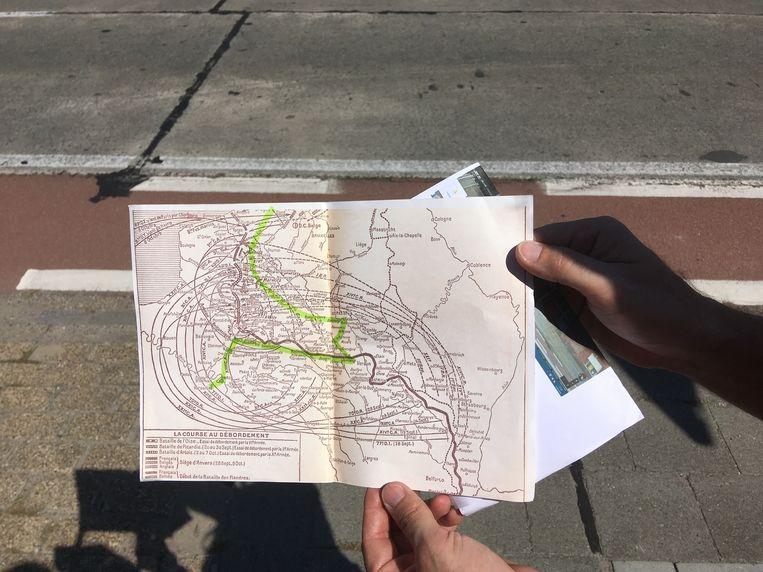 Dit is de route die Christian Laube aflegde.
