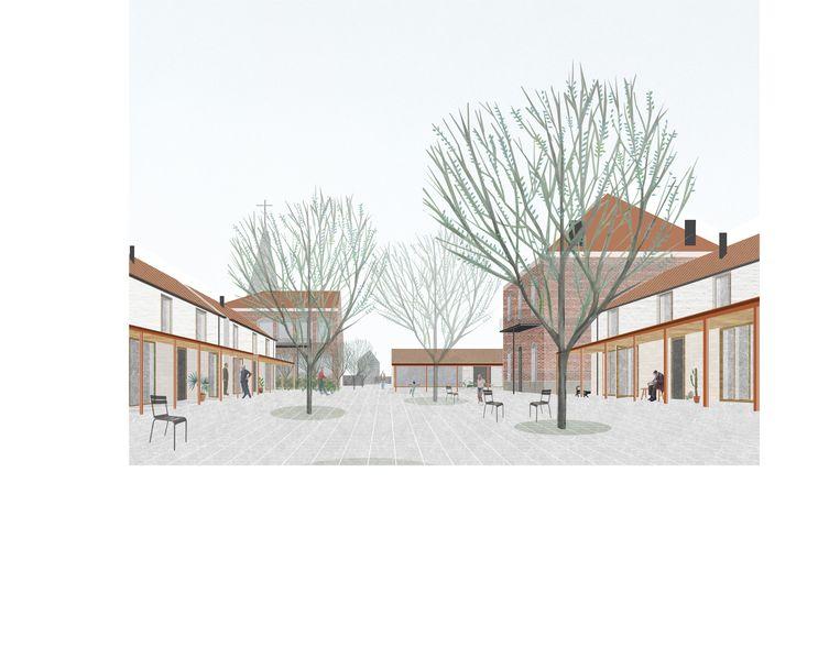Zo moet het nieuwe woonproject Dreef 10 er op termijn uitzien.