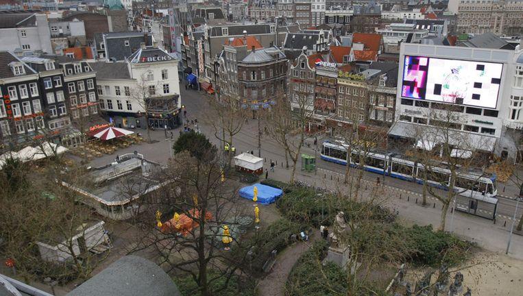 Dinsdagavond vielen drie gewonden na een steekpartij op het Rembrandtplein. Archieffoto ANP Beeld
