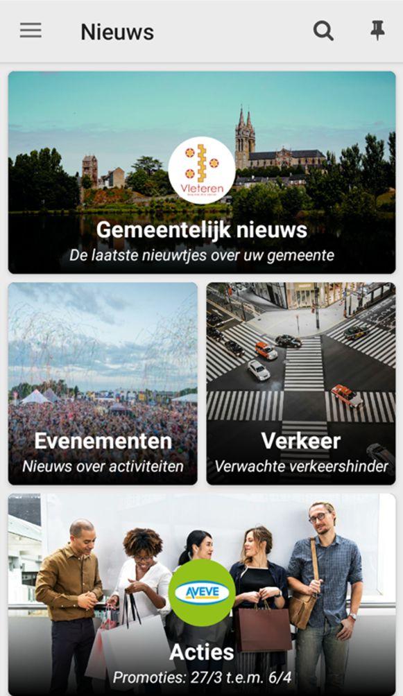 De mobiele applicatie van de gemeente Vleteren wordt afgevoerd.