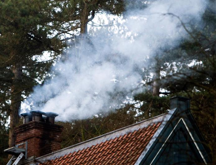 Rook uit een schoorsteen