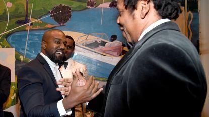 Kanye en Jay-Z schudden handen op verjaardag Diddy