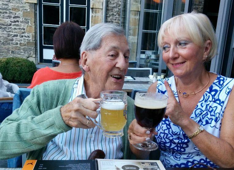 Sid en dochter Anita bij Fenikshof Grimbergen.
