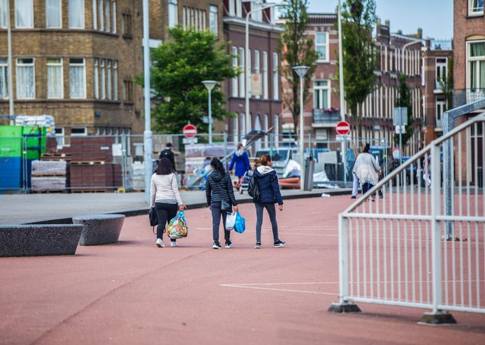 Het wijkpark Transvaal.