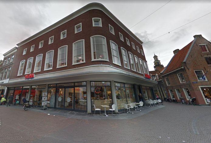 Het Hema-pand in het centrum van Zutphen.