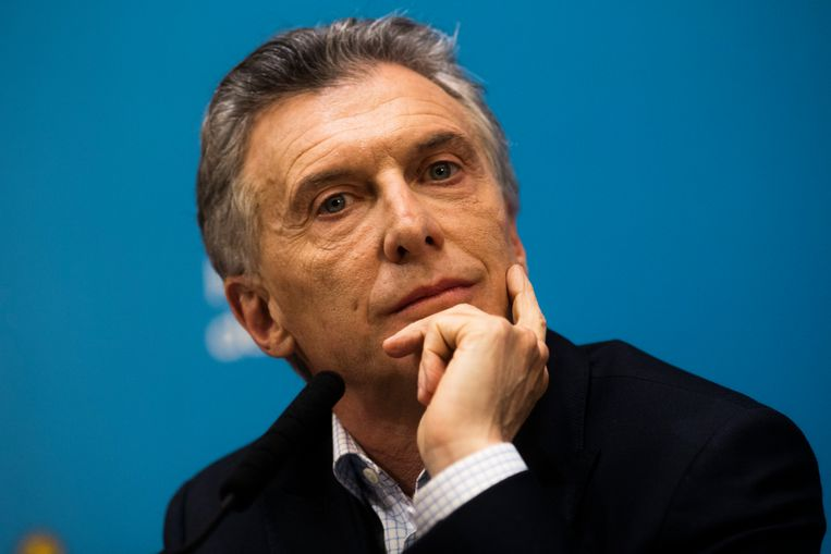 De Argentijnse president Mauricio Macri, de man die het land van een faillissement moet redden.  Beeld Getty Images