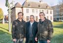 Yves Colleman, Marc Demonie en Nico Koklenberg aan het Castrohof, waar ze voor het eerst uitpakken met hun Castro Winterbar.