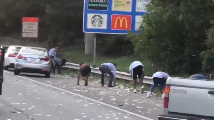 De chaos was groot op de snelweg